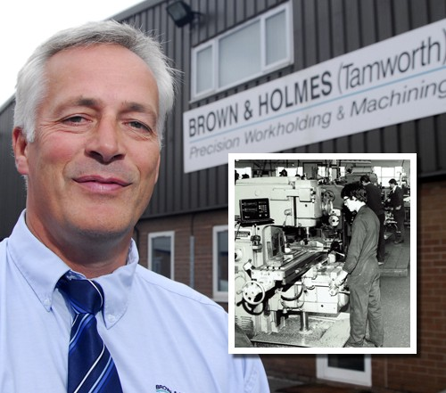 Kevin Ward celebrating  40 years at Brown and Holmes